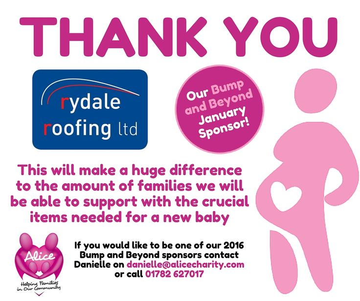 Bump and Beyond January Sponsor 2016. Rydale Roofing Ltd!
