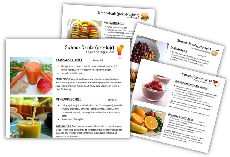 Download this free Healthy Ramadan Recipes e-Book by The Eco Muslim!