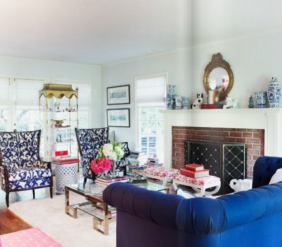 Blue And White Living Rooms : White living rooms, Blue and white and Blue and on Pinterest