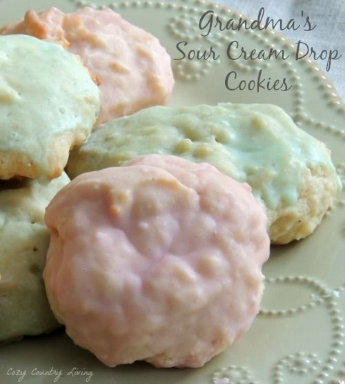 Grandma's Sour Cream Drop Cookies | Cozy Country Living #cookies #dropcookies #Christmas