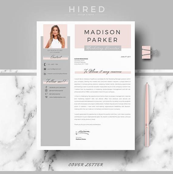 Creative & modern Resume / CV Template for Word. Resume design MADISON Professional Resume / CV + Cover Letter + References + free tips | Instant Download - Fully Editable. - US Letter & A4 size format included. - Mac & PC Compatible using Ms Word.