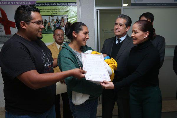 Abre DIF módulos de Registro Civil en hospitales