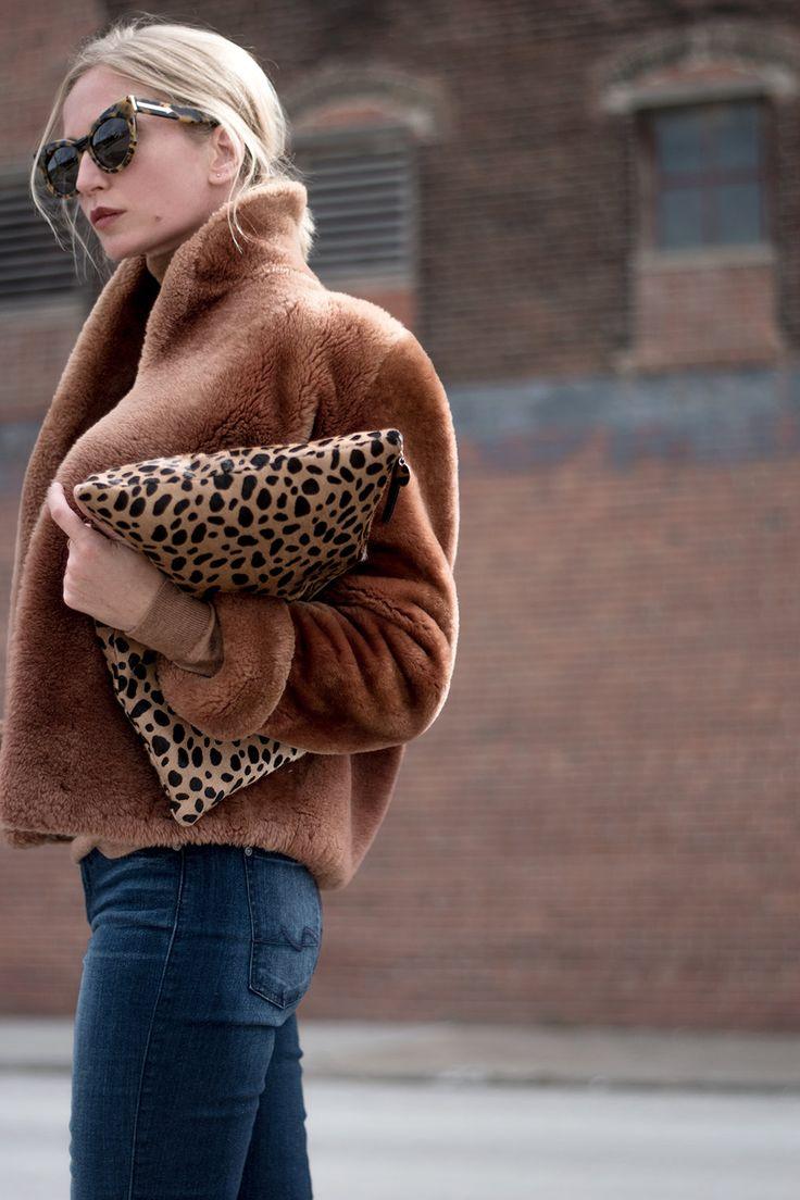 Jacket: Thrifted // Turtleneck: J Crew // Jeans: Seven For All Mankind // Boots: Public Desire // Clutch: Clare V. // Sunglasses: Karen Walker I have bonafide c