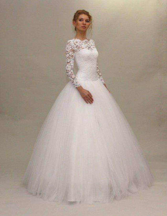 Robe de mariée de princesse en tulle
