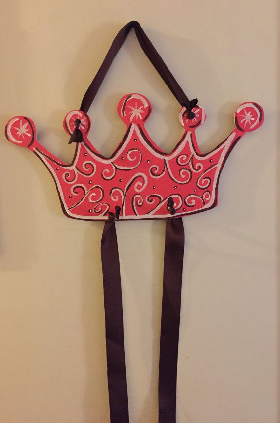 Princess Crown Hair Bow Hanger Hair Bow Holder by ChristyNCourtney