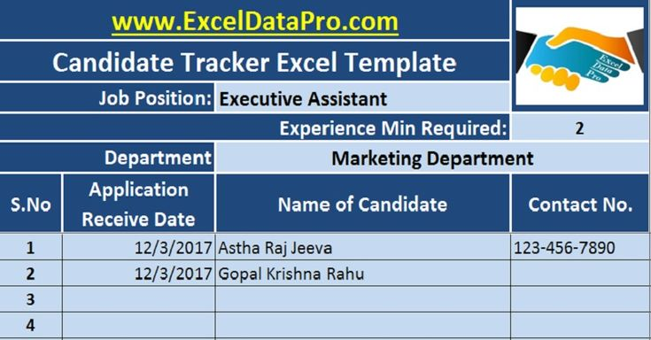 Job Candidate Tracker an all-in-one sheet that easily stores data of applicants for a particular post and helps to track/scrutinize applicants efficiently.