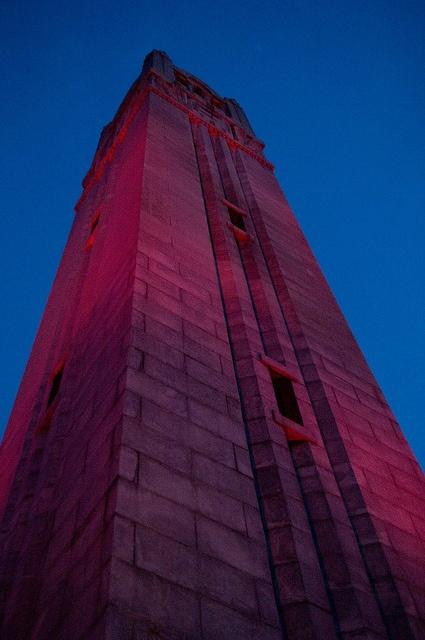 The Belltower at dusk.
