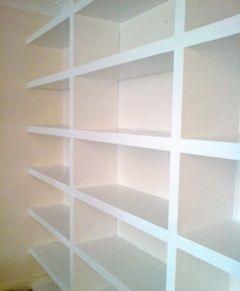Full wall shelves