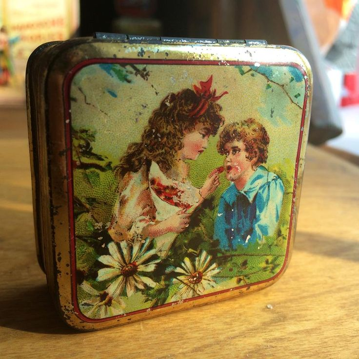 Antique candy tin box from Germany