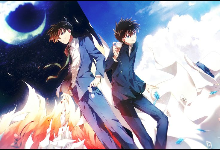 Tags: Meitantei Conan, Kudou Shinichi, Pixiv, Kuroba Kaito, Magic Kaito, Aka Tonbo (Lililil)