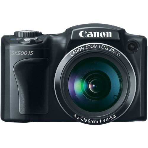 Review Cheap Canon PowerShot SX500 IS 16.0 MP Digital Camera with 30x Wide-Angle Optical Image Stabilized Zoom and 3.0-Inch LCD (Black)