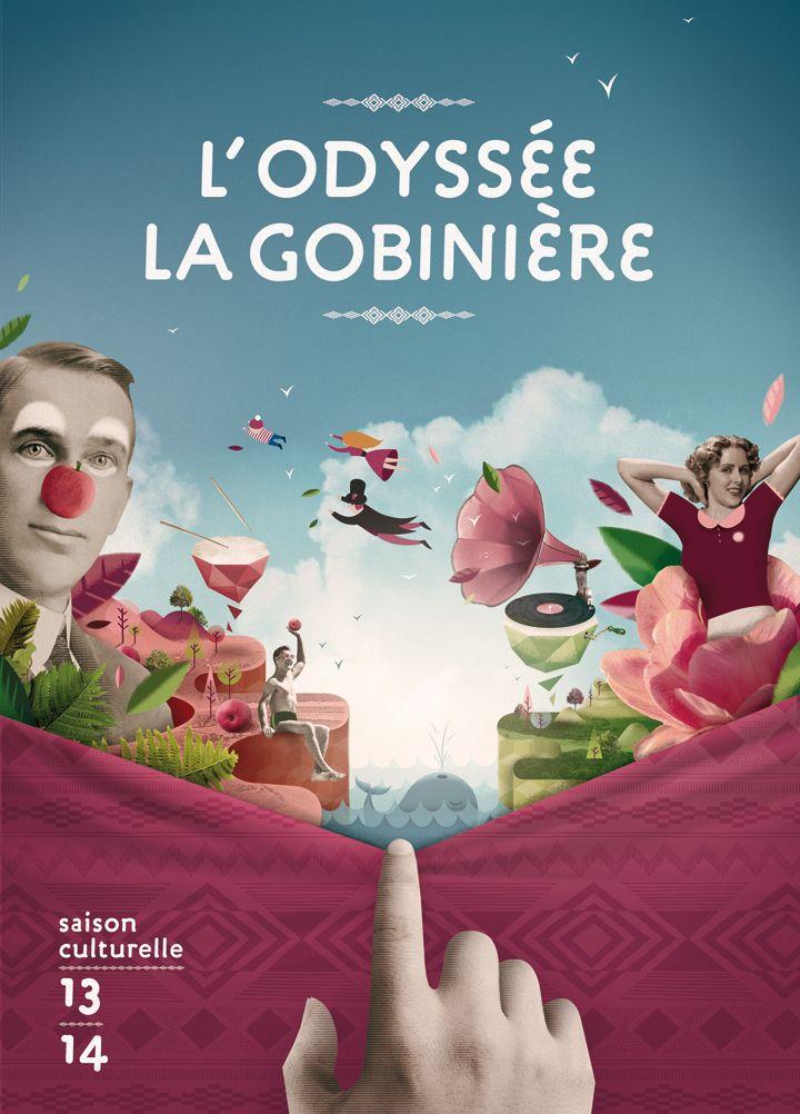 Proposition d'illustration pour la saison culturelle 2013/2014 de la ville d'Orvault. #theFeebles #Nantes #illustration #culture #musique #theatre