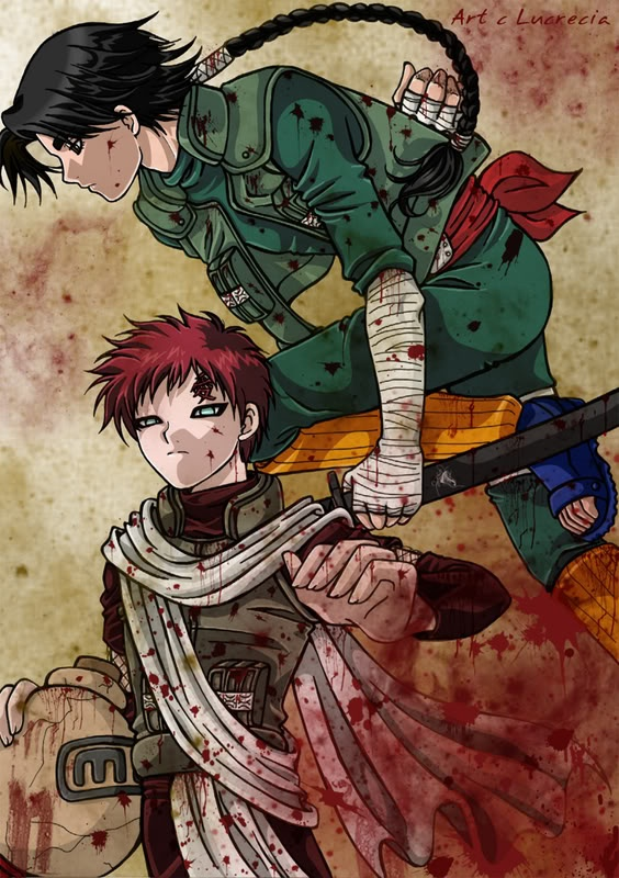 "Bleach - Rock Lee & Gaara ""Until the War is Over"" by ... Gaara And Lee"