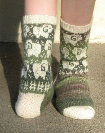 Chaussettes bélier de christhalainette