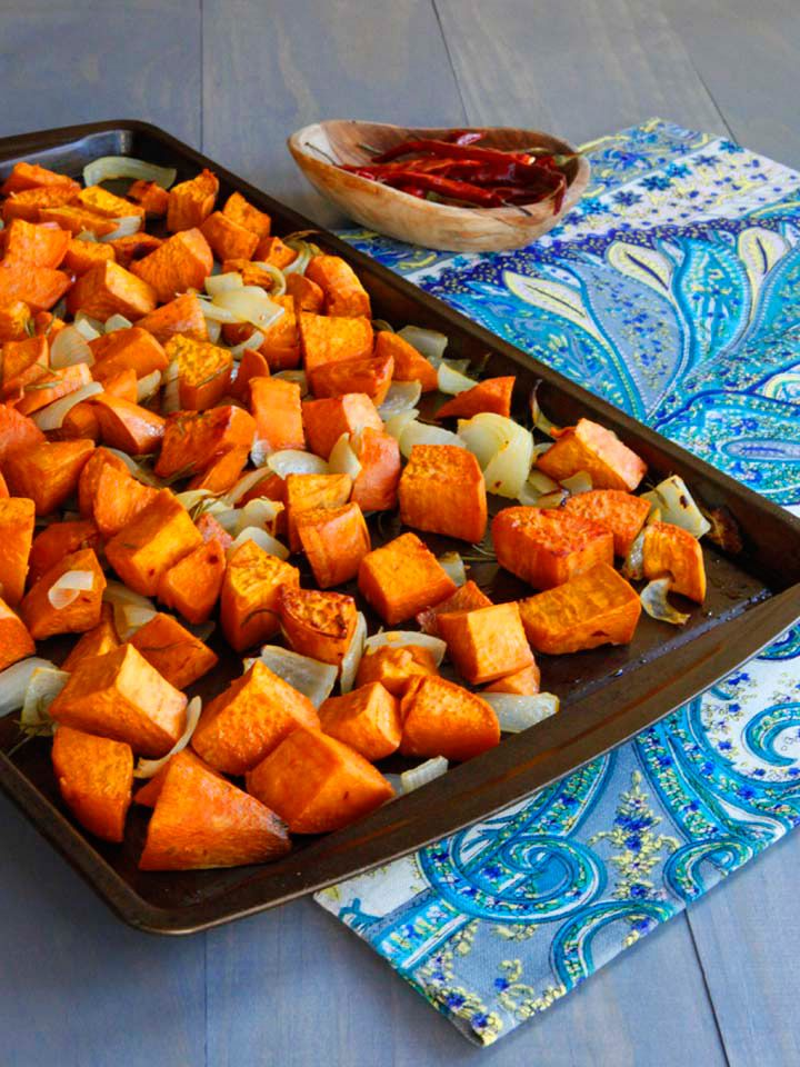 Spicy Roasted Sweet Potatoes - Healthy roasted yams with sweet Maui ...