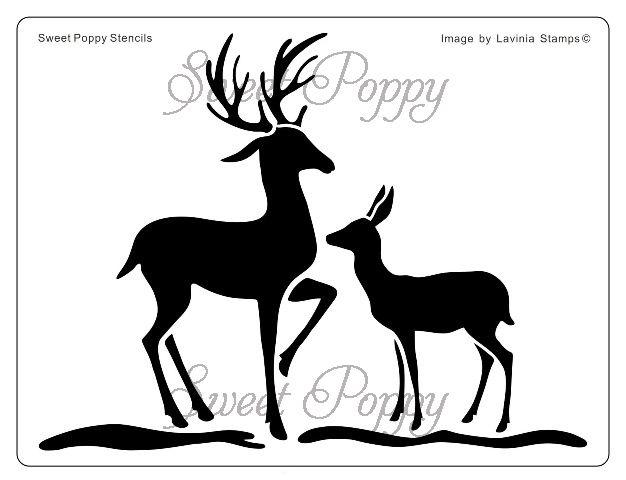 Sweet Poppy Stencil: Deer £8.99