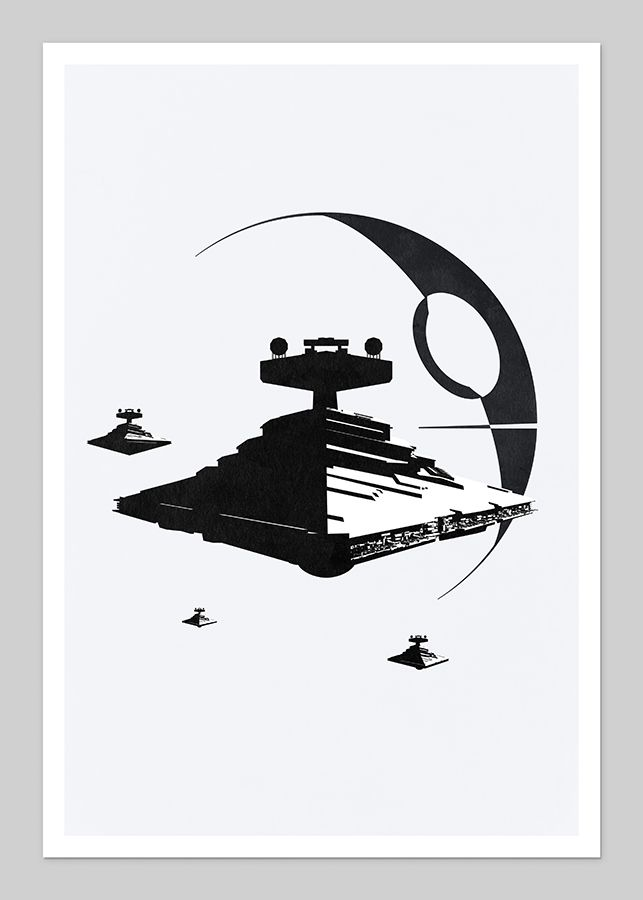 Star Destroyers and Death Star | Created by DirtyGreatPixels, via TieFighters