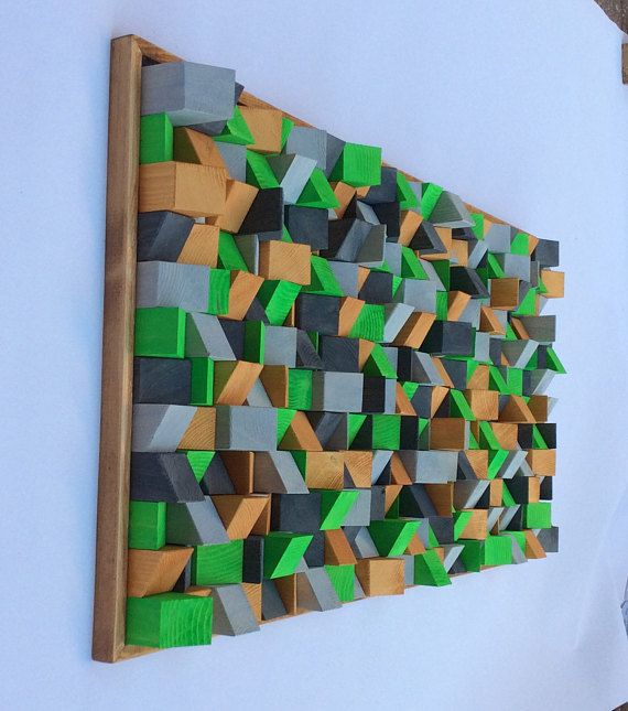 Wooden Wall Art 3D effect made by hand and painted by artist