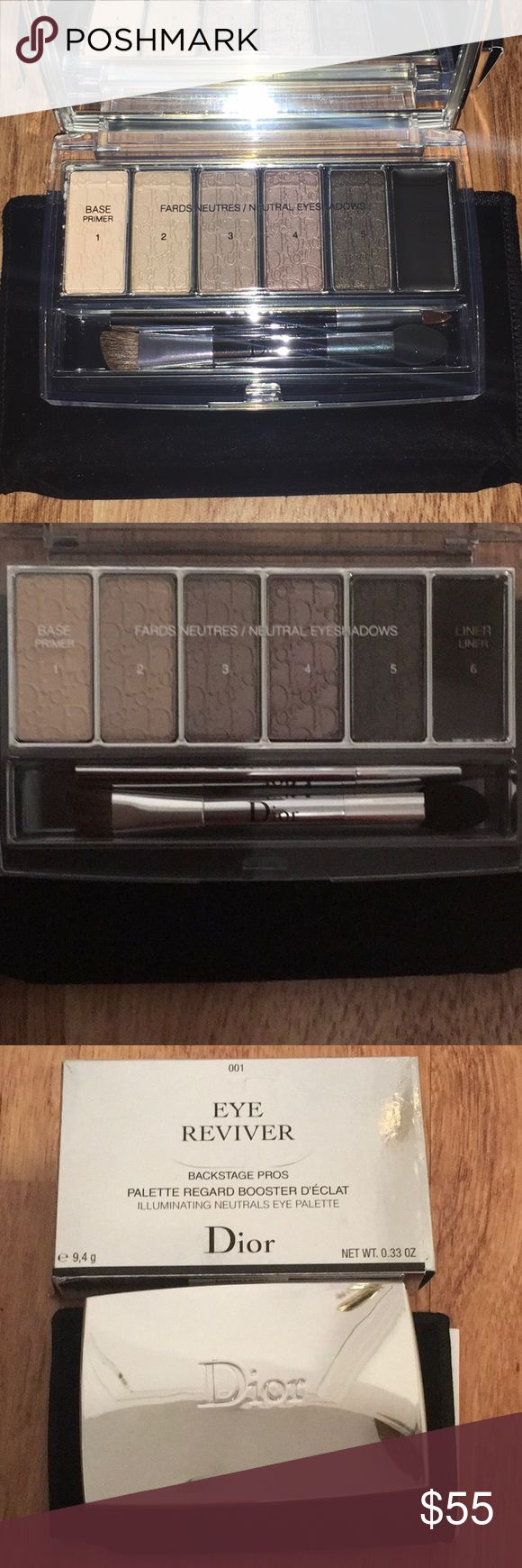 Dior Eye Shadow Palette Eye Reviver-Never Used Beautiful eye shadow palette with neutral colors flattering on all skin tones.  This palette has been been used and comes with all original packaging. Dior Makeup Eyeshadow