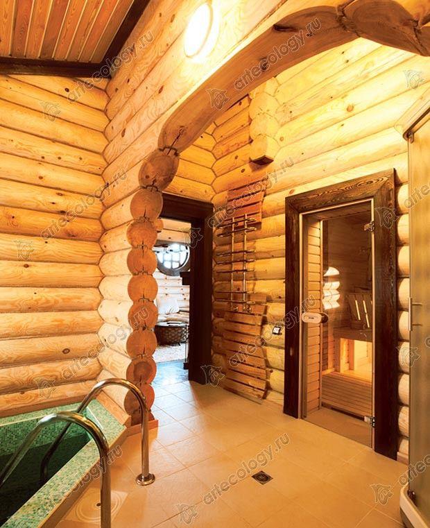 Стеклянная дверь в сауну - The glass door to the sauna