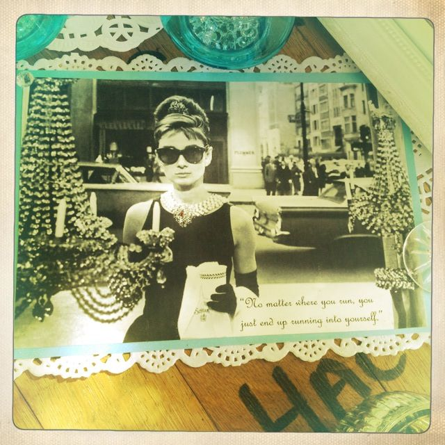 Breakfast @ Tiffany's Themed Hen's Party - Audrey Prints/Quotes - Doiley DIY Crafts