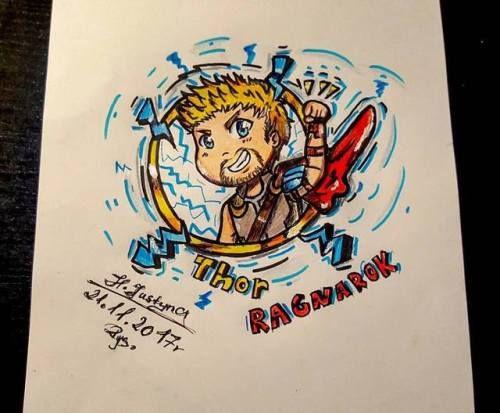 Chibi Thor New my drawing (◍•ᴗ•◍)