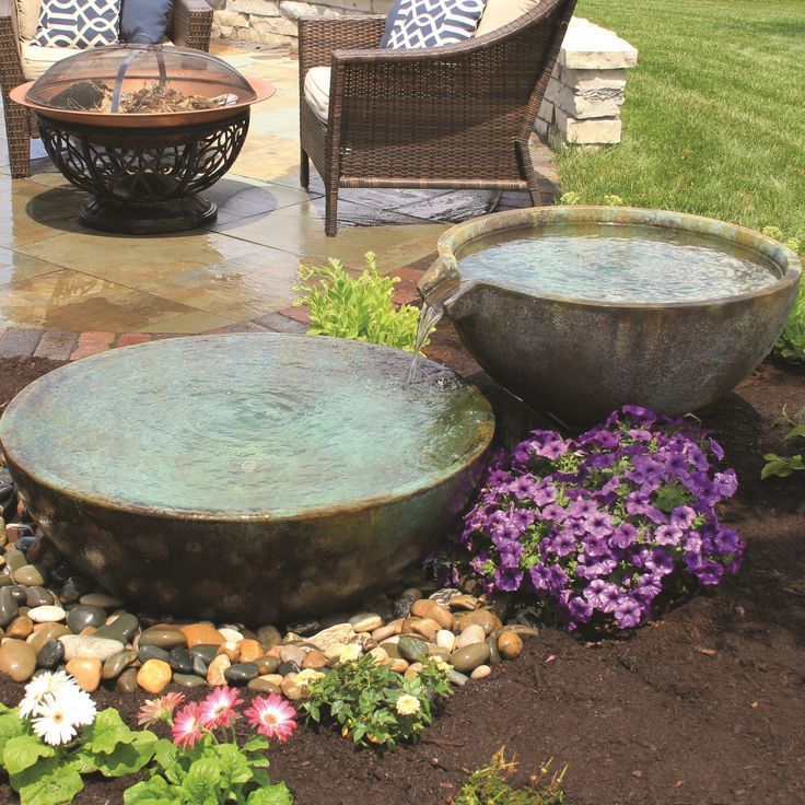 Aquascape Spillway Bowl and Basin Landscape Fountain