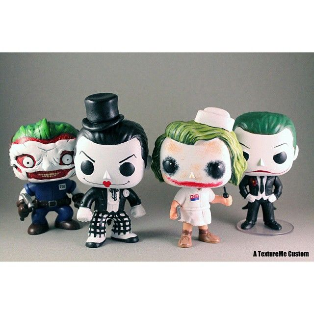 Joker Gang By Textureme Custom Batman Custom Funko Pop