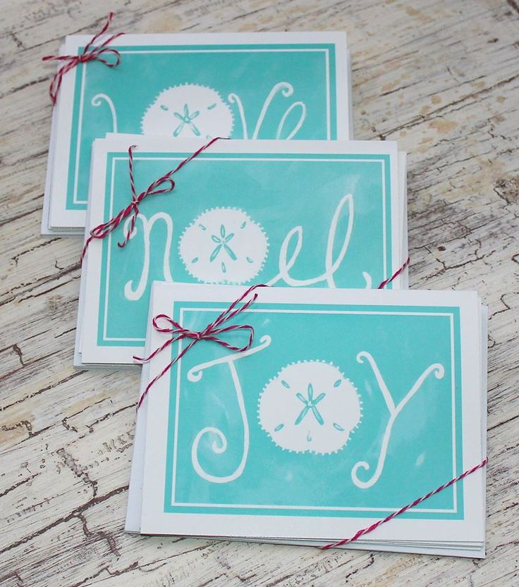 Artful beach Christmas cards: http://www.lemondaisydesign.com/#!note-cards/c15di