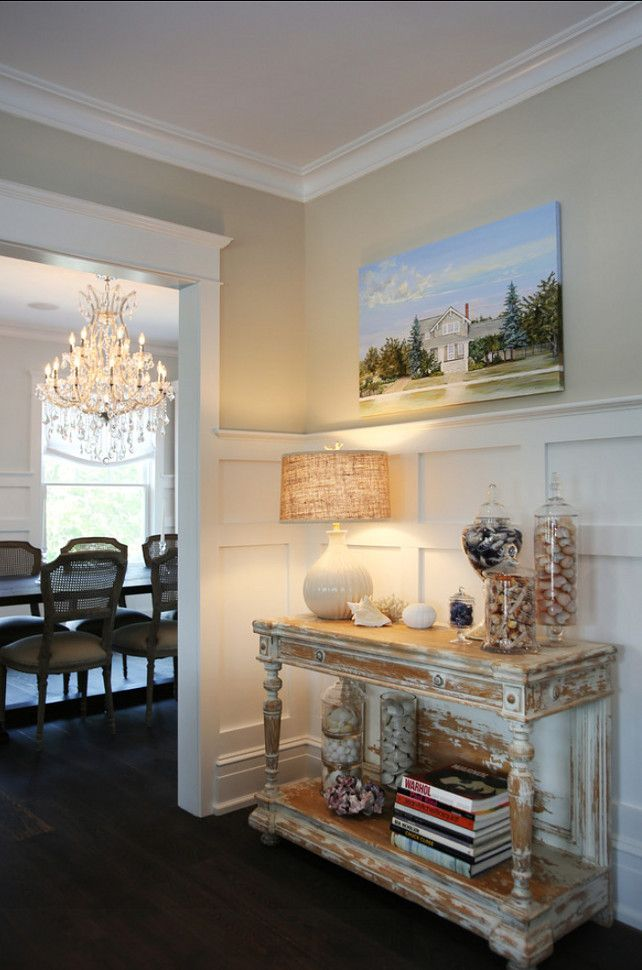 Foyer Foyer With Coastal Decor Distressed Console Table And Neutral Color Palette Foyer