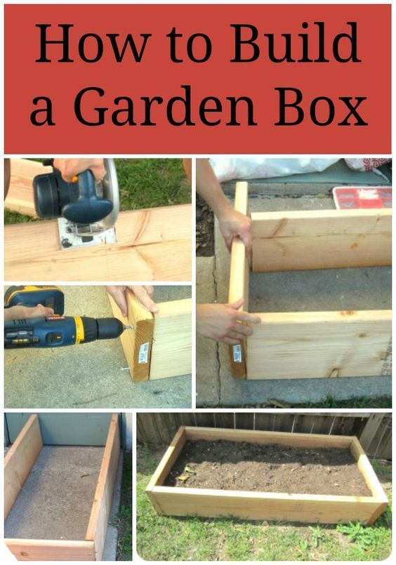 Step by step directions on how to build a garden box for a raised bed garden. Save money by making your own garden beds. Perfect for square foot gardens.