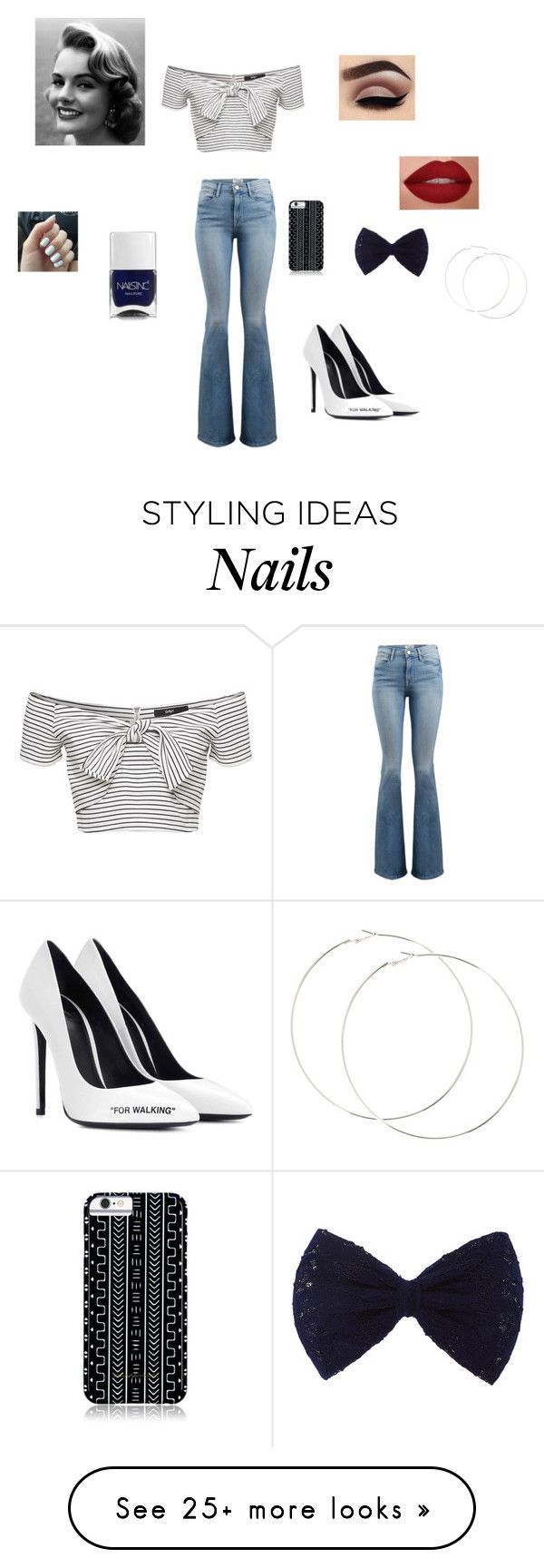 """Untitled #145"" by hannah-013 on Polyvore featuring Frame, Off-White, Nails Inc. and Savannah Hayes"