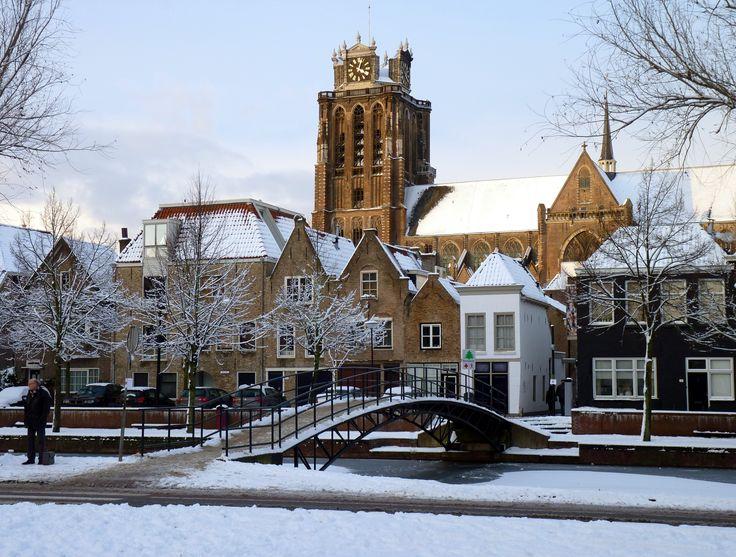 Grote Kerk in de sneeuw