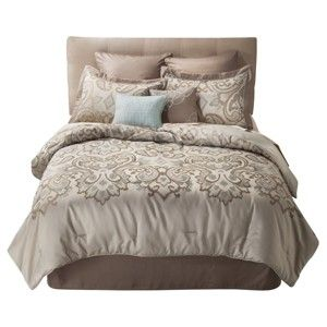 Wesley 8 Piece Bedding Set - Taupe : Target Mobile
