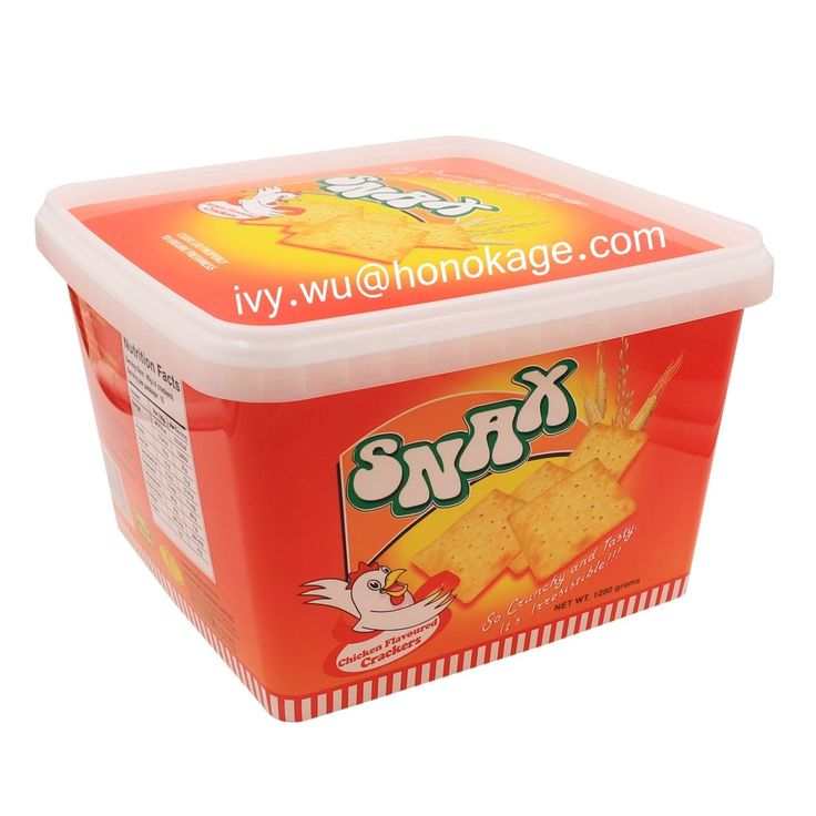 Different Size IML Cookies Plastic Container,Box of Biscuits Packaging Suppliers