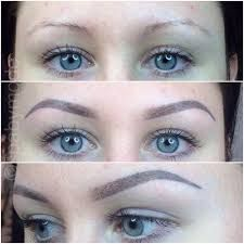 Image result for permanent eyebrow makeup before and after