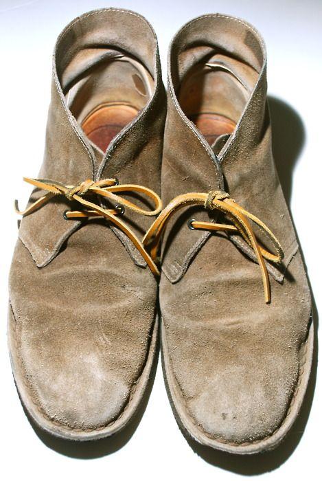 Very Broken In Desert Boots, Men's Spring Summer Fashion.