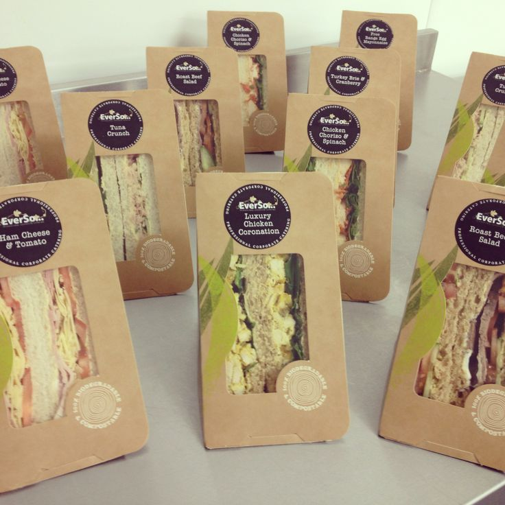 Our individual packed sandwiches