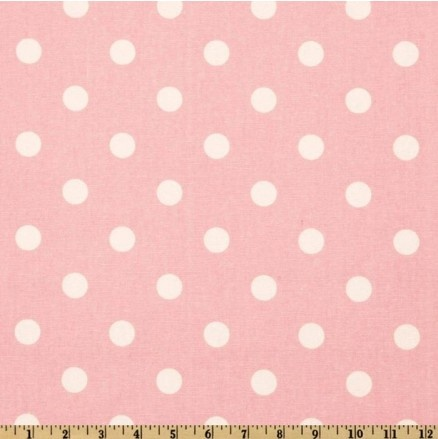 Studio Collection Polka Dot Fabric in Light Pink Available at 5rooms.com