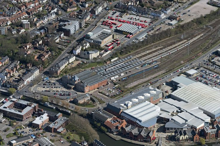 Norwich Railway Station - aerial image | by John D F