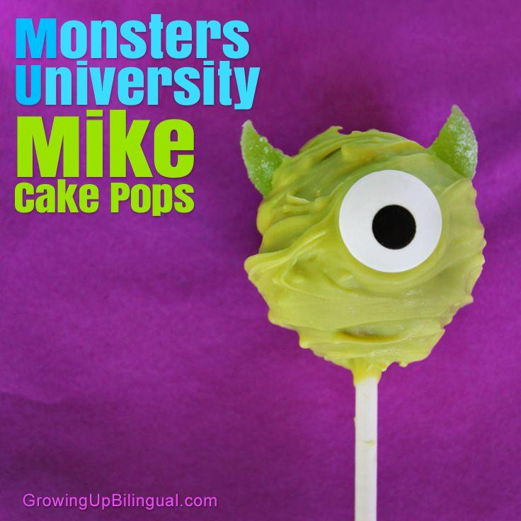 Monsters University Mike Cake Pops