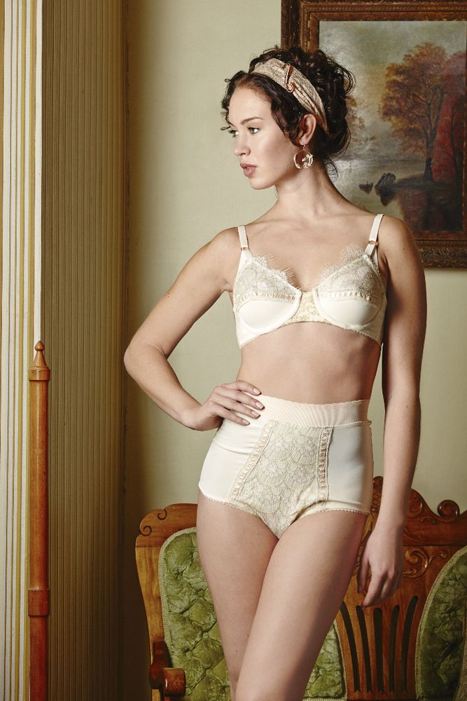 Dottie's Delights — Century Girl High Waist Knickers Ivory ...