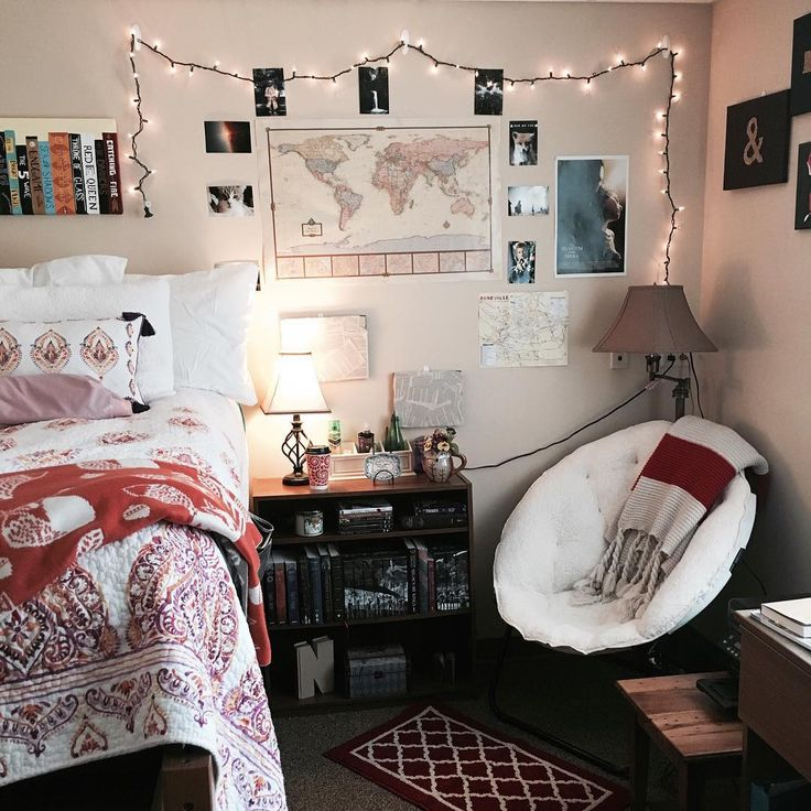 """Hey guys I promised I would show you my dorm room! This is where I'll be reading until May!  I love my little room it's very cozy! I might even pull a…"""