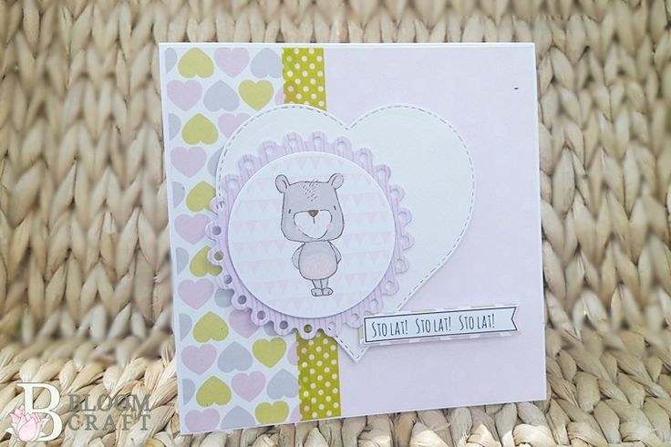 urodziny; birthday; kids; miś; bear; card; kartka