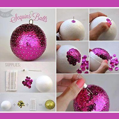 Aprende a hacer esferas de navidad para tu arbolito - Esferas de navidad ...