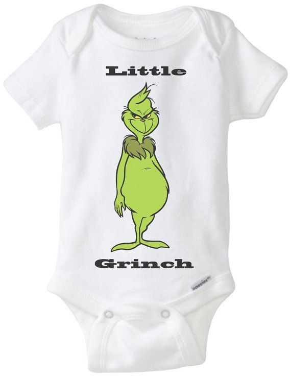 Little Grinch Baby Infant Onesies by KeKeClothing on Etsy