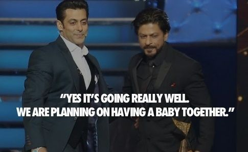 Another reporter: Salman was moved to tears during your stage appearance together at Sensations 2005, when you said kind words about him. Is your relationship going well now ?