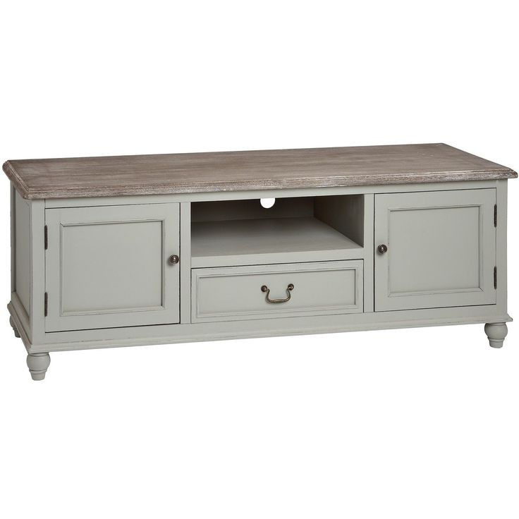 ANTIQUE FRENCH GREY SHABBY CHIC TELEVISION CABINET STAND TV UNIT (H14668) | eBay