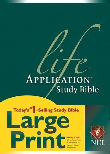 HARDCOVER - Life Application Study Bible NLT, Large Print #KindlePublishing