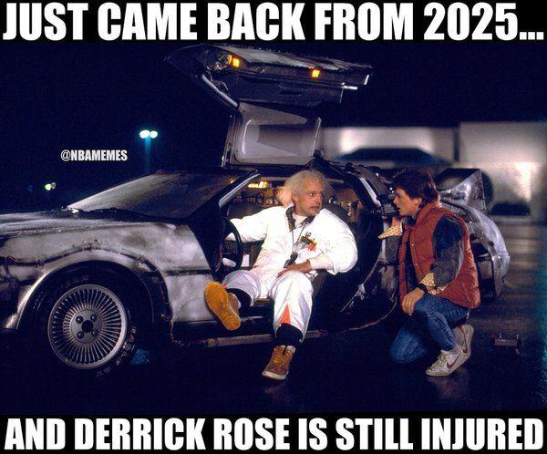 Derrick Rose still injured! - http://nbafunnymeme.com/nba-funny-memes/derrick-rose-still-injured